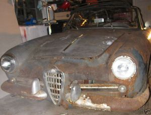 sad giulietta spider nose