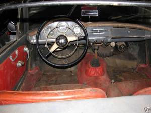 sad 61 giulietta spider interior