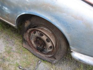giulietta spide flat tire