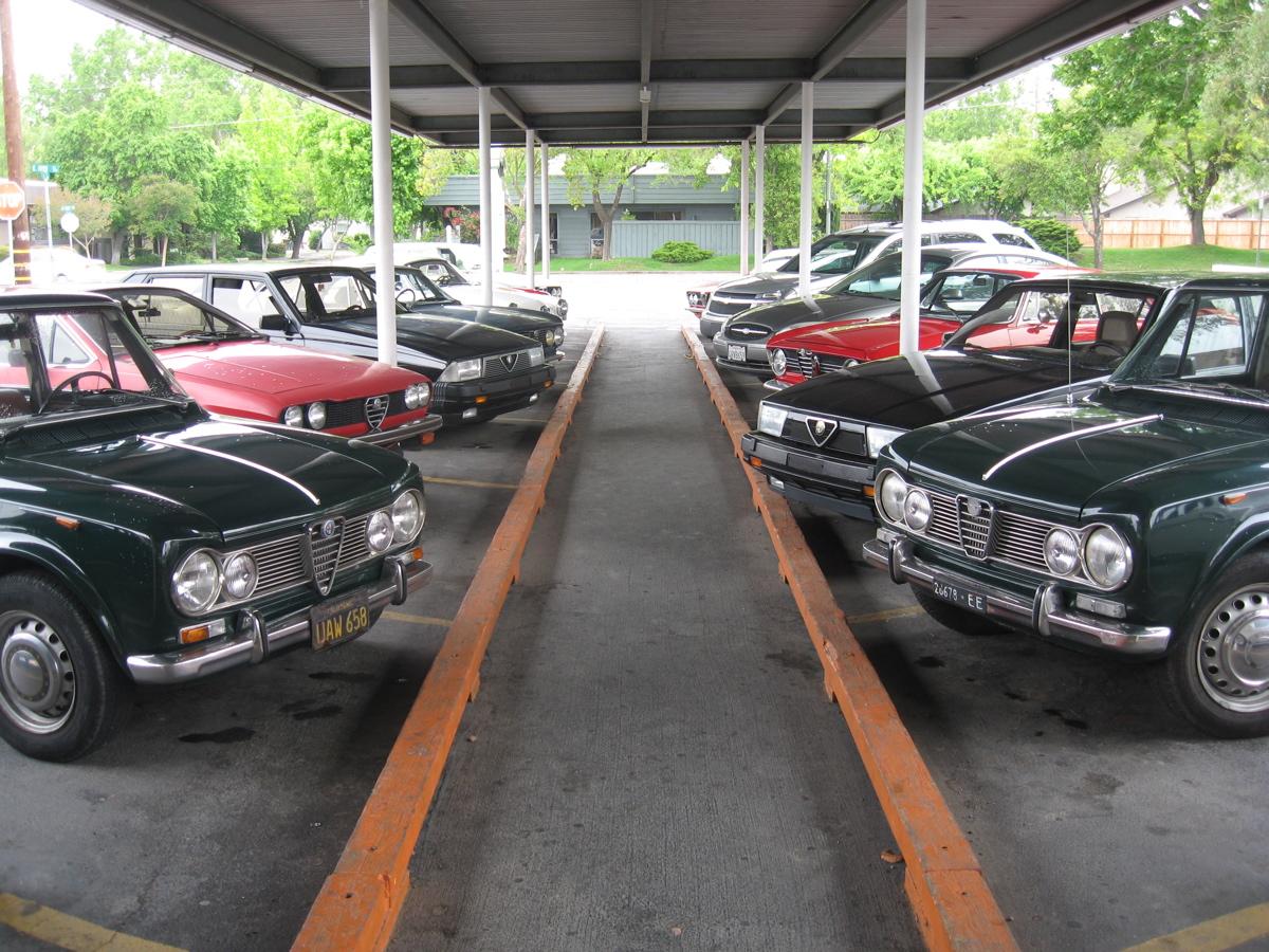 an Alfetta GTV,