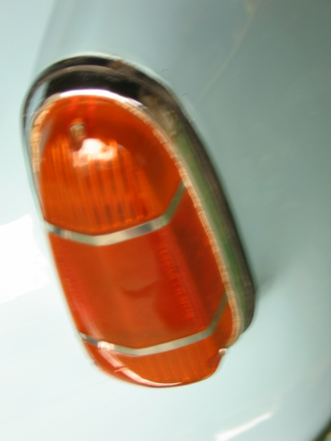 Tail Light on Car Engine Parts