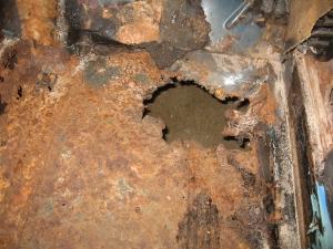 ti passenger floor rust