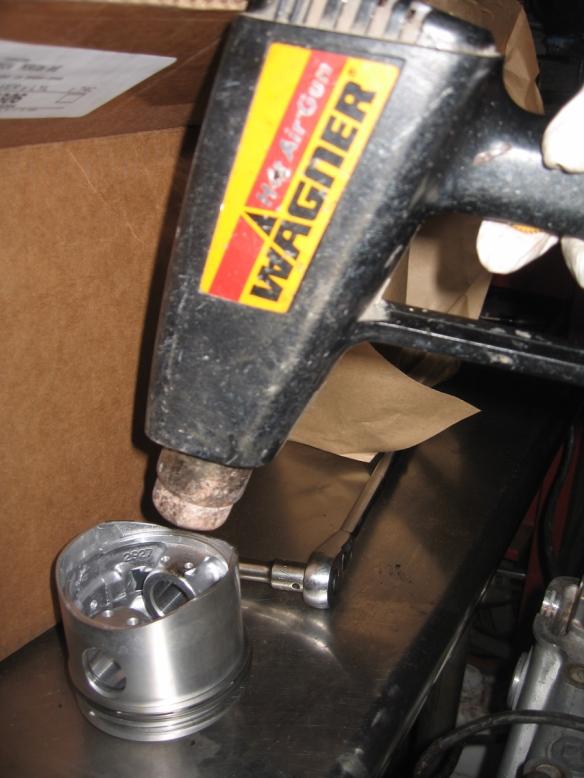 heat gun on pistons