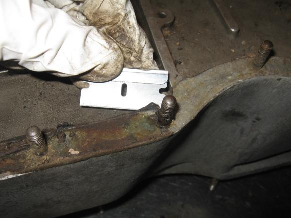 veloce oil pan gasket scraping